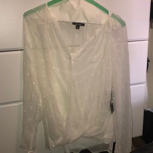 Ella Moss Tops - Never worn white Ella Moss blouse